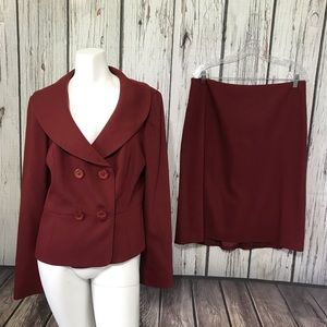 Ann Taylor Loft Blazer and Skirt Suit Set Wool